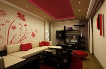 red-and-White-living-room-interior-design